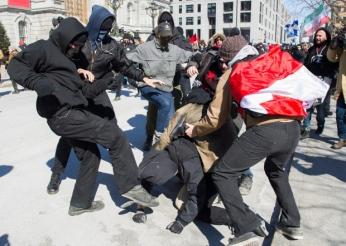 Antifa thug